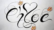 Cool Designs With Names Name Tattoos Drawing Fancy Script Design With Heart And