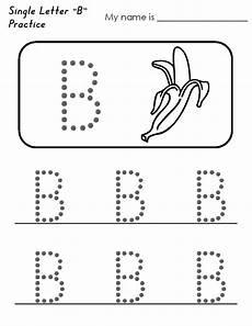trace letter b worksheets worksheet exles letter b