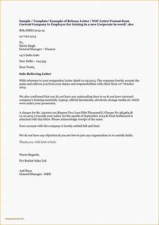 Sample Of Noc Letter From Company New Noc Letter Format For Visa From Company