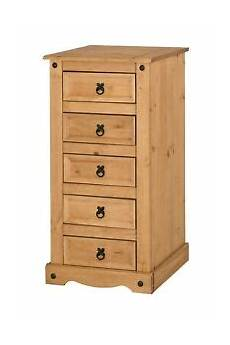 corona chest of drawers 5 drawer narrow mexican solid pine