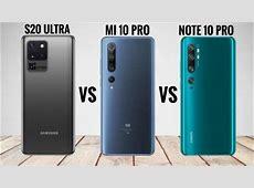 Samsung Galaxy S20 Ultra vs Xiaomi Mi 10 Pro vs Xiaomi Mi