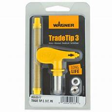 Wagner Paint Sprayer Tip Size Chart Wagner Tradetip 3 Spray Tip For Airless Guns Different