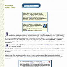 Rules For Comma Usage Rules For Comma Usage Pearltrees