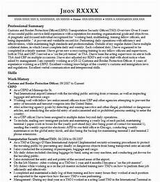 Resume For Customs And Border Protection Officer Customs And Border Protection Officer Resume June 2020