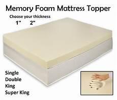 Memory Foam Mattress Size Chart Quality Memory Foam Mattress Topper All Depth And Sizes Ebay