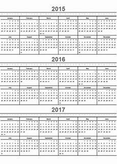 Multi Year Calendar Home Life Weekly 187 Printable Calendar 2016