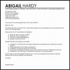 Electrician Apprentice Cover Letters Plumber Apprentice Cover Letter Sample Livecareer