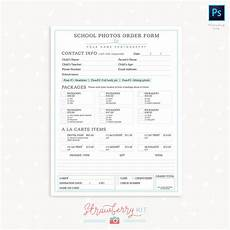School Forms Templates School Photography Order Form Template Strawberry Kit