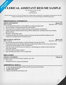 Clerical Resume Template Clerical Assistant Resume Example Resumecompanion Com
