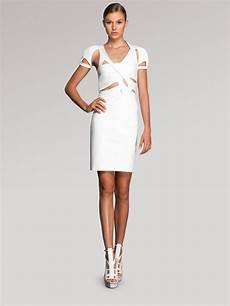 lyst gucci cutout dress in white
