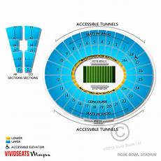 Rose Bowl Soccer Seating Chart Stadium Seating Guide For Rose Bowl Concerts Vivid Seats