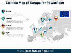Map Powerpoint Europe Editable Powerpoint Map Presentationgo Com