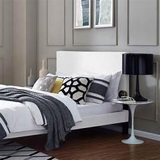 upholstered linen fabric headboard white