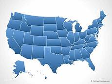 Us Map Ppt Powerpoint 174 Map Of The United States Of America With