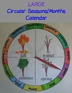 Season Wheel Chart Circular Seasons And Months Chart Calendar Large By