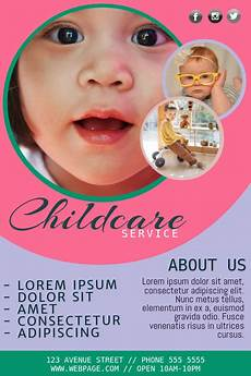 Child Care Flyer Design Free Childcare Flyer Template Postermywall