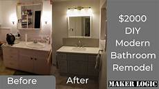 How To Start A Bathroom Remodel Diy Bathroom Remodel On A Budget Start To Finish Six Days