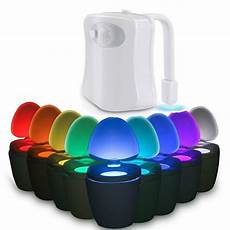 Motion Detection Night Light For Your Bowl Toilet Night Light 8 Color Led Motion Activated Sensor
