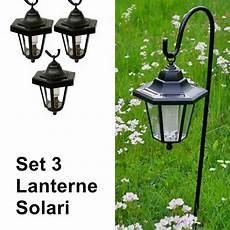 lanterne per candele da esterno lanterne da esterno e giardino a energia solare set 3 pezzi