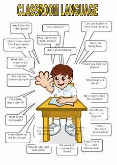 English Language Charts For Classroom Classroom Language English Pages