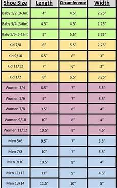 Sock Knitting Chart Foot Measurements Loom Knitting Crochet Slippers
