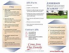 A Brochure Format Anderson Preparatory Academy Toddbaldridge Com