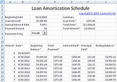 Loan Amortisation Table Excel Excel Template Amortization Schedule Loan Printable