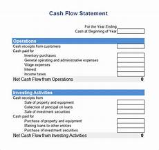 Statement Of Cash Flows Template Free 8 Cash Flow Statement Samples In Google Docs Ms