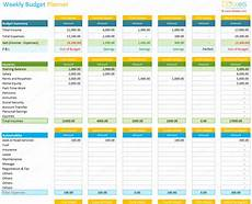 Budget Calculation Excel Weekly Budget Planner Template Spreadsheet Dotxes