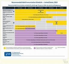 Cdc Immunization Chart 2019 U S Immunization Schedule