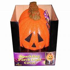 Halloween Light Covers Sparkling Pumpkin Porch Light Cover 1 Count