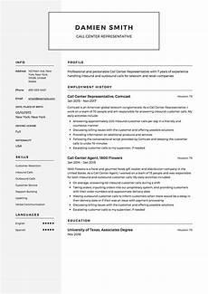 Resume Example For Call Center Call Center Representative Resume Amp Guide 12 Samples
