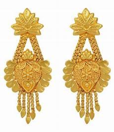 Earrings Design Images Dzine Trendz Gold Plated Hanging Flowerpot Design Stylish
