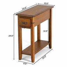 gymax end table bedside sofa end table narrow nightstand w