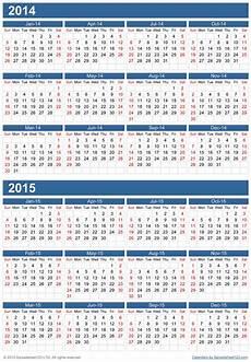 Multi Year Calendar Multiple Years Calendar Template For Excel