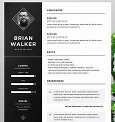 Resume Template Illustrator 130 New Fashion Resume Cv Templates For Free Download