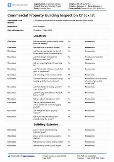 Property Inspection Checklist Commercial Property Inspection Checklist Template Use It