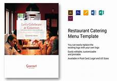 Catering Menu Card Restaurant Catering Menu Template