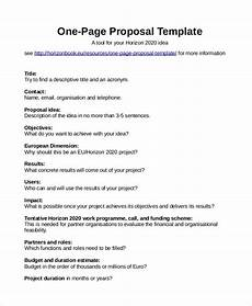 One Page Proposal Template Free Proposal Template 31 Free Word Pdf Indesign Format