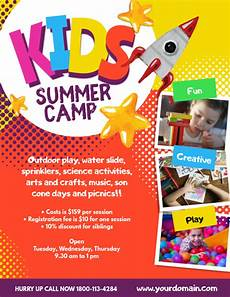 Summer Camp Pamplets Copy Of Kids Summer Camp Poster Flyer Template Postermywall