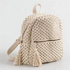 macrame bag ivory macrame backpack world market