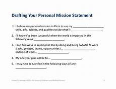 Examples Of Personal Mission Statements For Career Mission Statement For Life Google Search Personal