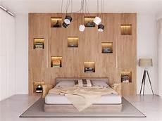 libreria in da letto libreria in legno da letto nicchie illuminate