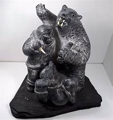 carving soapstone 17 wolf original inuit soapstone carving