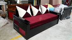 Sofa Bed Size 3d Image by Nissi Wooden 3d Sofa Bed Size 6 X 5 Rs 27000