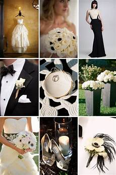 buttercream and black chic wedding colors