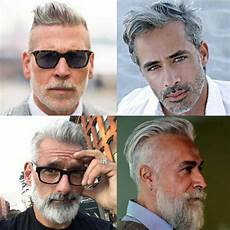 coole frisuren graue haare männer silver and grey hair for s hairstyles haircuts