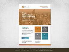 Free Flyer Templates For Microsoft Word Corporate Flyer Design In Microsoft Word Free Used To Tech