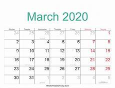 March 2020 Calendar Printable March 2020 Calendar Printable With Holidays