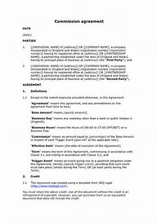 Commission Agreement Free Commission Agreement Docular